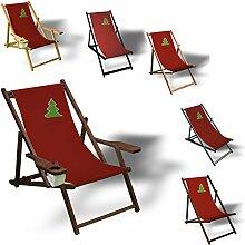 Weihnachtsbaum auf Rot - Liegestuhl bedruckt