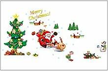 Weihnachtsbaum Aufdruck Fenster Entfernbar Wandtattoo Aufkleber Wandpapier Deko