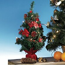 Weihnachtsbaum, Creme/gold, rot/gold