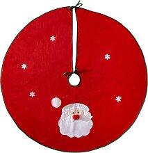 Weihnachtsbaum-Decke Santa, rot