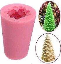 Weihnachtsbaum-Form 3D Seife Kuchen Form