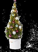Weihnachtsbaum Frozen Beauty mit Schmuck-Set im