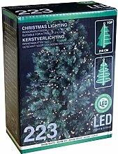 Weihnachtsbaum Lichterkette mit 223 LEDs warmweiß für Tannenbäume bis 210cm / Innen & Außen Christbaumlichterkette Weihnachtsbaumbeleuchtung Tannenbaumbeleuchtung Christbaumbeleuchtung
