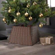 Weihnachtsbaum-Rattankorb Standfußhülle, Deko