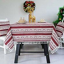 Weihnachtsbaum Schneeflocke Tischdecke,