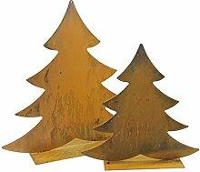 Weihnachtsbaum Tannbaum 46cm Metall Rost Gartendeko Edelros