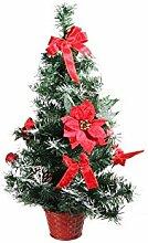 Weihnachtsbaum Tisch mit Deko rot Höhe von 60cm
