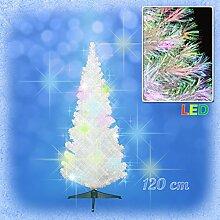 Weihnachtsbaum weiss mit farbwechselnden