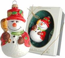 Weihnachtsbaumfiguren Schneemann mit Besen Die