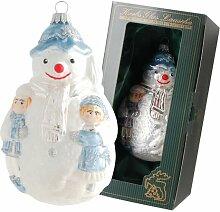Weihnachtsbaumfiguren Schneemann mit Kindern Die