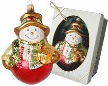 Weihnachtsbaumfiguren Schneemann mit Schal und