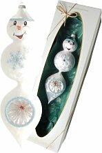 Weihnachtsbaumfiguren Schneemann mit Tropfen und