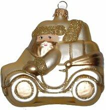 Weihnachtsbaumfiguren Weihnachtsmann im Auto Die