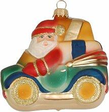 Weihnachtsbaumfiguren Weihnahtsmann im Auto Die