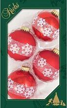 Weihnachtsbaumkugeln Kugel mit Banddekor