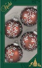 Weihnachtsbaumkugeln Kugeln mit Ranken-Dekoration