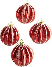 Weihnachtsbaumkugeln Lina (4er Pack), rot