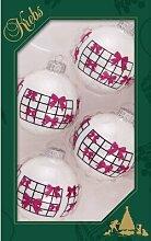 Weihnachtsbaumkugeln mit Band