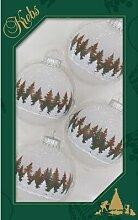 Weihnachtsbaumkugeln mit Banddekor