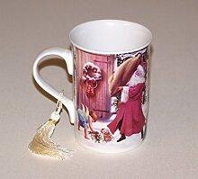 Weihnachtsbecher Porzellanbecher Becher Teebecher Kaffeebecher Geschenk Nikolaus