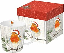 Weihnachtsbecher Rotkehlchen