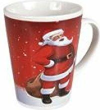 Weihnachtsbecher Santa, ca. 9,5 x 8 cm