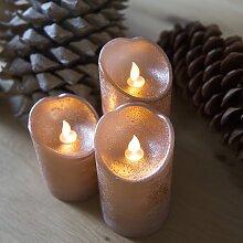 Weihnachtsbeleuchtung Dekoration Kerze LED Kupfer