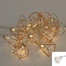 Weihnachtsbeleuchtung Lichterkette Diamant 12