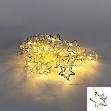 Weihnachtsbeleuchtung Lichterkette Star 20