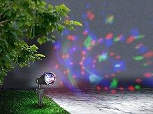 Weihnachtsbeleuchtung Projektor Weihnachten Effektleuchte (Projektionslicht, Bunte Lichtpunkte Beweglich, Party Beleuchtung, Kabel 10 m)