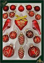 Weihnachtsdeko 20-teiliges Set Christbaumkugeln