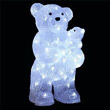 WEIHNACHTSDEKO - beleuchtete Bärenmutter mit