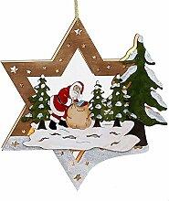 Weihnachtsdeko beleuchteter Stern mit