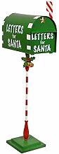 Weihnachtsdeko - Briefe für den Weihnachtsmann Weihnachtsbriefkasten Metall Feiertags-Dekor - Weihnachtskarten zum Nordpol