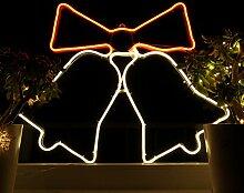 Weihnachtsdeko Fenster LED Glocken Fensterbilder