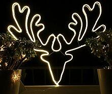 Weihnachtsdeko Fenster LED Rentier Fensterbilder