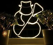 Weihnachtsdeko Fenster LED Schneemann