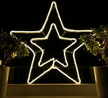 Weihnachtsdeko Fenster LED Stern Fensterbilder
