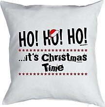 Weihnachtsdeko - Kissen mit Füllung - HO! HO! HO!