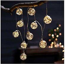 Weihnachtsdeko - Lichterkette Kugeln -