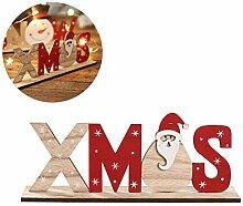 Weihnachtsdeko Santa Claus Schneemann
