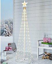Weihnachtsdeko - Weihnachtsbaum mit 202 LEDs - Modern - Weiß