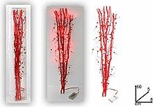 Weihnachtsdeko, Zweig mit Lichterkette LED arossa