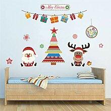 Weihnachtsdekoration Baum Hirsch Weihnachtsmann