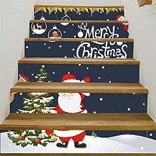 Weihnachtsdekoration DIY Treppen Aufkleber