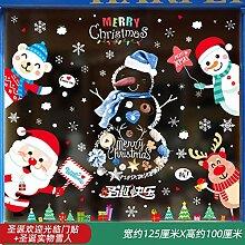Weihnachtsdekoration Glas Aufkleber Santa Tür