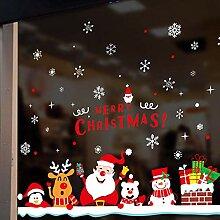 Weihnachtsdekoration Glasaufkleber Fenster