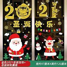 Weihnachtsdekoration Glastür Aufkleber