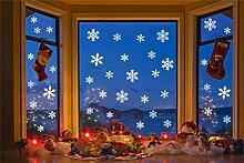 Weihnachtsdekoration Schneeflocke Fensterbilder