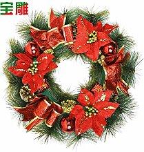 Weihnachtsdekoration Tür Kleiderbügel rot weihnachten Blumen.